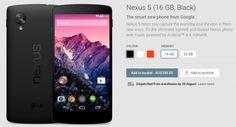 Nexus 5 Black back in stock on Google Play