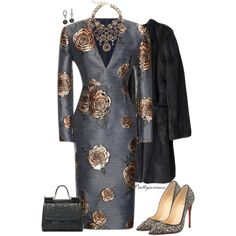A fashion look from November 2014 featuring Aquilano.Rimondi dresses, Marni coats and Christian Louboutin pumps. Browse and shop related looks.
