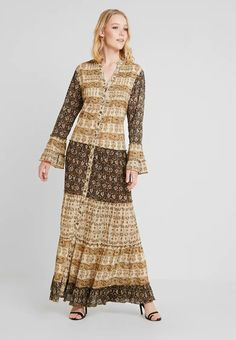 Isla Ibiza Bonita DRESS - Długa sukienka - brown - Zalando.pl Ibiza, Bohemian, Dresses With Sleeves, Long Sleeve, Style, Fashion, Pretty, Moda, Sleeve Dresses