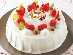 Japanese Christmas cake - strawberries are a must, apparently