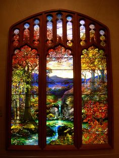 Louis Comfort Tiffany, stained glass window.  The Metropolitan Museum of Art, New York.  #Tiffany #stained_glass #window #Metropolitan_Museum