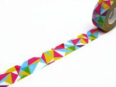 Super bright and colourful geometric Washi Tape!