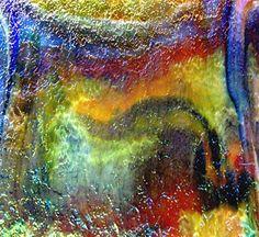 UROBOROS RAINBOW TAPESTRY METALIC IRIDESCENT Stained Glass SHEET or Mosaic Tiles #UROBOROS