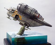 Mandalorian Ships, Star Wars Vehicles, Star Wars Images, Model Kits, Starwars, Spaceship, Tabletop, Tv Series, Armour