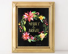Merry and Bright, Christmas Prints, Christmas cards, Christmas decorations…