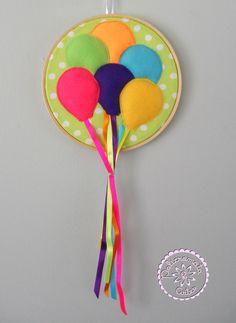 Quadro Balões coloridos em feltro by Policromata Artes