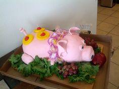roasted pig luau cake