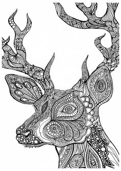 Adult Coloring Books Free - Adult Coloring Books Free, Like A Boss Printable Adult Coloring Page From Favoreads Deer Coloring Pages, Abstract Coloring Pages, Printable Adult Coloring Pages, Mandala Coloring Pages, Coloring Pages To Print, Coloring Books, Fall Coloring, Mandalas Painting, Mandalas Drawing