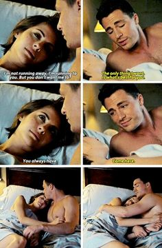 """When bad things happens, your go to move is to bolt. To get out of Starling. I don't think this is something you can run away from.""  #Arrow - Thea & Roy #3x22 #Season3"