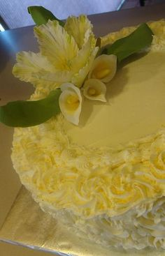 60th anniversary cake from Cynthia's Elegant Cakes and Pastries