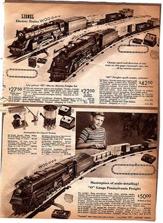 Toy train collectors are an interesting a varied group of individuals. Some of them spend the better part of life, looking for the perfect train set creating. Train Car, Train Travel, Vintage Advertisements, Vintage Ads, Retro Ads, Third Rail, Train Platform, Christmas Train, Holiday Train