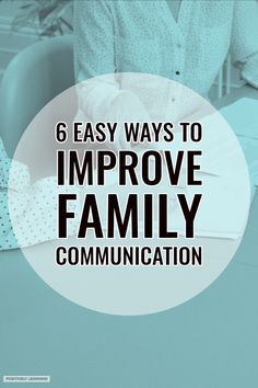 6 Easy ways to improve family communication between school and home. #specialeducation #parentconferences #familycommunication
