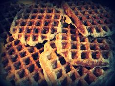 Terrible picture, aMAZing waffles.    Oatmeal Waffles...healthy AND delicous!