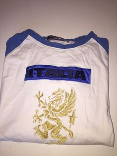 Kappa Italia Soccer Shirt For Men Size X Large White With Blue Colors #Kappa #TracksuitsSweats