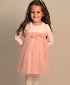 Another great find on #zulily! Pink Gia Lace Babydoll Dress - Girls #zulilyfinds