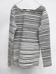 Marinière Deep Black Stripes