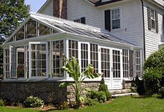My attached greenhouse on pinterest sunroom greenhouses for Sunroom attached to house