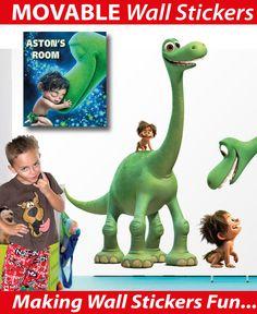 Personalised The Good Dinosaur Wall Stickers - Totally Movable Movable Walls, Dinosaur Wall Stickers, The Good Dinosaur, Cool Stickers, Wall Murals, Dinosaur Stuffed Animal, Good Things, Fun, Kids