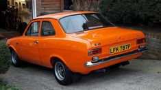 Escort Mk1, Ford Escort, Orange Crush, Guy Stuff, Automotive Industry, Old Cars, Jdm, Vintage Cars, Mexico