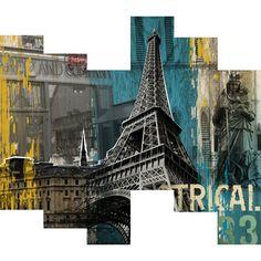 100 Essentials 3D Structural Paris Trip Painting   Wayfair