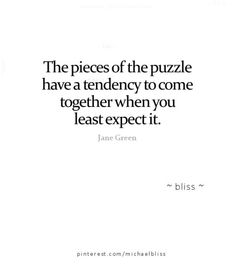 Searching Searching For The Pieces Of The Puzzle To Make What Is