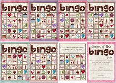 Valentines BINGO- super cute 5 x 7 and cards to pull out. Free.