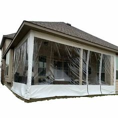 Awning Canopy, Canopy Curtains, Outdoor Curtains, Tent, Screen Tight, Patio Enclosures, Canopy Lights, Backyard Patio Designs, Back Patio