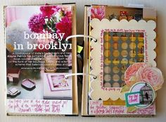 Magazine Clippings Mini - used to do this all the time in high school who knew I was scrapping way back then :)