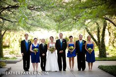 wedding tuxedos blue and lime green | bridesmaid dresses blue with groomsmen vests in blue colors