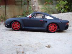 Maket Model Diorama - Şafak Karayel: Porsche 959 - 1/24 Tamiya