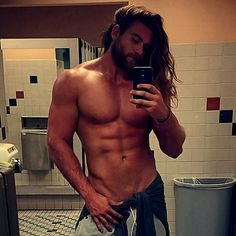 "Brock O'Hurn Looks like Thor, loves his mama, wicked expressive face, AND he is 6'7"".... Drool"