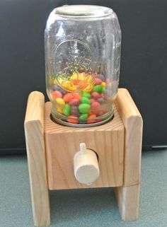 Handmade Wood Candy Dispenser's Makes a great by BranchingOutward