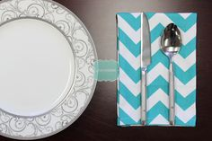 NAPKINS - Set of 4 - Premier Prints - ZIG ZAG - True Turquoise White - Table Linen Home Decor Cotton Cloth Fabric Dining Dinner Napkins by LinenVision on Etsy https://www.etsy.com/listing/209769521/napkins-set-of-4-premier-prints-zig-zag