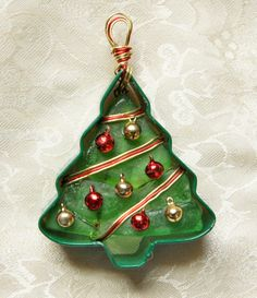 Sea Glass Christmas Ornament or Suncatcher in a by oceansbounty