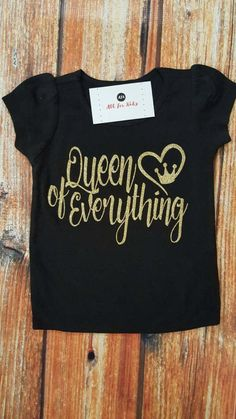 Baby Girl Top Baby Clothes Queen of by AllForKidsBoutique on Etsy