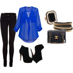perfect for drinks with the girls! & I would also wear the electric blue stiletto nails w/ this outfit <3