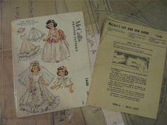 ORIGINAL Doll Clothes PATTERN 1646 for 14 inch Toni Bridal Gown Veil Fur Cape