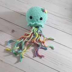 Check out this item in my Etsy shop https://www.etsy.com/listing/542272767/crochet-jellyfishmint-rainbow-jellyfish