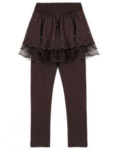 Gallity Women Skirted Leggings High Waist Plus Size Winter Warm Ruffle Elastic Solid Leggings Trousers Pants Workout Pants Yoga Pants XXXL, Black