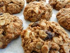 Healthy Gluten free Oatmeal Raisin Cookies made with coconut flour, organic coconut sugar and GF Organic white chocolate chips for fun!