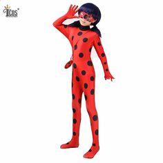 Zázračné Ladybug Kostýmy Lady Bug Kids Cosplay Kostým Spandex Lycra Druhý  Skin Tight Suit Halloween One Piece Bodysuit 7b01dd4ba45
