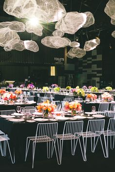 Solid black background with lots of pops of colour - amazing! The Style Co.