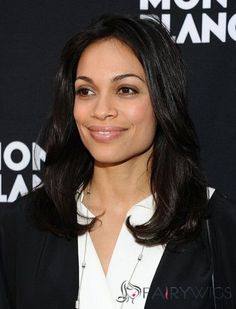 18 Inches Black Lace Front 100% Indian Remy Hair Wigs Long Layered Hair, Layered Cuts, Remy Hair Wigs, Rosario Dawson, Indian, Long Hair Styles, Lady, Image Search, Beauty