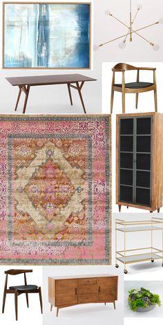 dining room inspiration - mid centiry modern home decor - one brass fox