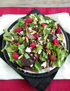 SALAD*** : Raspberry Salad or Flatbread with Cocoa Balsamic V ...