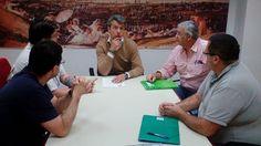 Asociación de Voluntarios Isleños de San Fernando. EXPROTEC.: REUNIÓN CON EL CANDIDATO DEL PARTIDO ANDALUCISTA