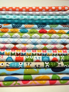 Love these fabrics. I used a few of them for Luke's blankets and stuff.