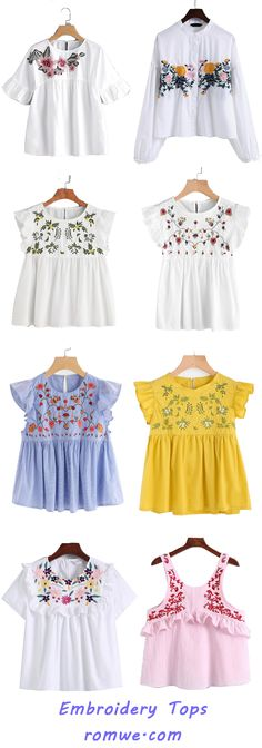 Embroidery Tops with special design and cozy material - romwe.com