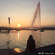 Les couchers de soleil avec le Jet deau sont inoubliables #  . The sunsets at the Jet deau are priceless   Merci @sara_nutri Celestial, Sunset, Outdoor, Thanks, Sun, Outdoors, Sunsets, Outdoor Games, The Great Outdoors