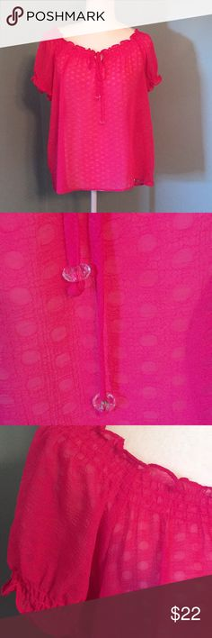 NWT NEW DIRECTIONS SHEER BLOUSE New condition. Pink sheer Blouse in size petite large. New Directions Tops Blouses